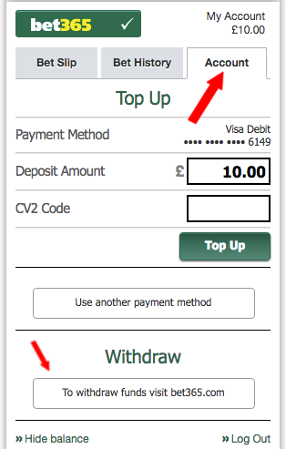 Withdrawing funds from your bet365 account – Racing Post
